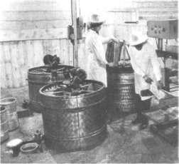 Стационарное оборудование для откачки меда
