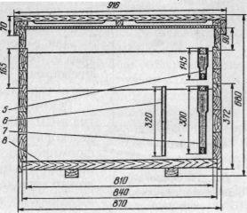 Улей-лежак на 20 рамок