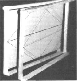 Рамки, изготовленные из реек сечением 12х 18мм